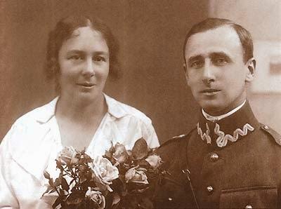 z mężem Z. Szatkowskim - 1925