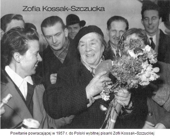 powitanie powracającej w 1957