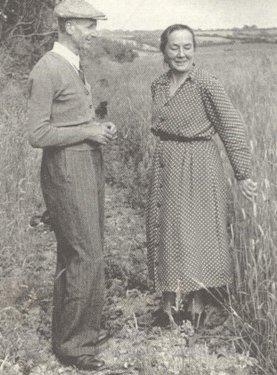 na farmie w Trossell, ok. 1950
